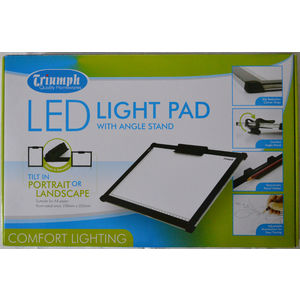 Triumph Led Light Pad A4 White 230mm x 320mm, With Angle Stand