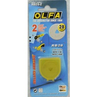 OLFA 28mm Rotary Cutter Blades 2 Pack, Suits RTY-1/G, RTY-1/DX