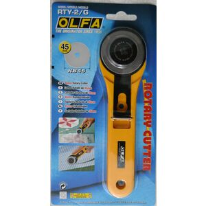 Olfa Rotary Cutter, 45mm Stainless Steel Blade, Model RTY-2/G