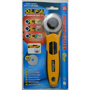 Olfa 45mm Rotary Cutter, Comfort Grip, Stainless Steel Blade, Model RTY-2/NS