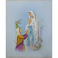 "OUR LADY OF LOURDES Religious Print, 10"" x 8"" (200mm x 250mm)"