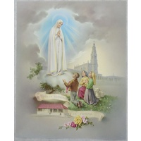 "OUR LADY OF FATIMA Religious Print, 10"" x 8"" (200mm x 250mm)"