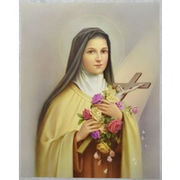 "SAINT THERESE Religious Print, 10"" x 8"" (200mm x 250mm)"
