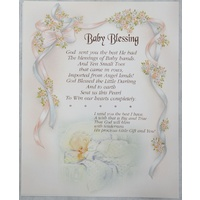 "BABY BLESSING Religious Print, 10"" x 8"" (200mm x 250mm)"