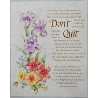 "DON'T QUIT Religious Print, 10"" x 8"" (200mm x 250mm)"