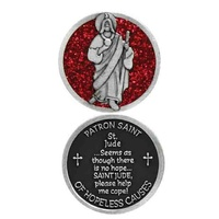 COMPANION COIN, ST JUDE, PATRON SAINT OF HOPELESS CAUSES, 34mm Diameter, Metal