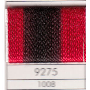 Presencia Finca Perle 5 Egyptian Cotton, 10 Gram, 9275 Shaded Red / Black