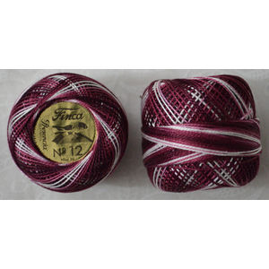 Presencia Finca Perle 12 Egyptian Cotton, 5 Gram, 9435 Shaded Plum