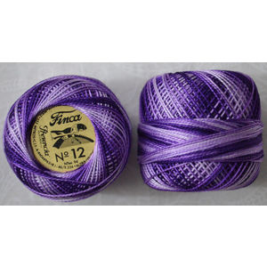 Presencia Finca Perle 12 Egyptian Cotton, 5 Gram, 9500 Shaded Dark Purple