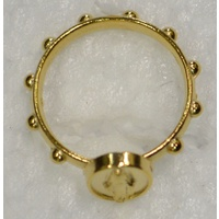 Miraculous Rosary Ring 19mm Gold Tone Metal