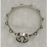 Miraculous Rosary Ring 19mm Silver Colour Metal