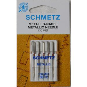 Schmetz Machine Needle, Metallic Size 80/12, Pack of 5 Needles