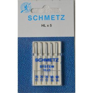 Schmetz Needle, High Speed HL x 5, Embroidery Size 75-90 Mix Pack of 5 Needles