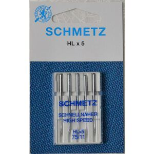 Schmetz Needle, High Speed HL x 5, Embroidery Size 75/11 Pack of 5 Needles