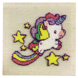 UNICORN DREAMS Punch Needle Kit By Sew Easy, 20.3 x 20.3cm, SE.NF001