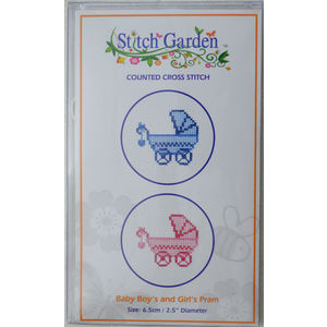 Stitch Garden Mini Counted Cross Stitch Kit, Baby Boys & Baby Girls Pram