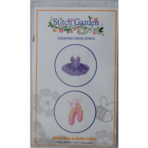 Stitch Garden Mini Counted Cross Stitch Kit, Ballet Tutu & Ballet Shoes