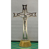 CRUCIFIX Magnetic Statuette 50mm High 23mm Base, Metal, Quality Made In Italy