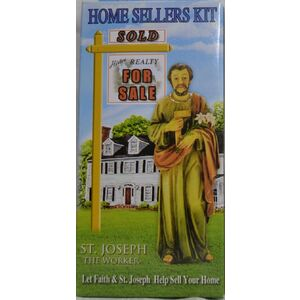 "SAINT JOSEPH The Worker, Home Sellers Kit, 4"" Statue and Instructions included"