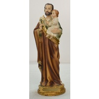 "SAINT JOSEPH Statue, 210mm (8 1/4"") High Resin Statue"