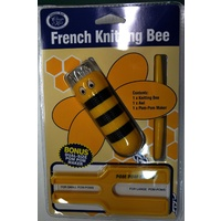 CLASSIC KNIT French Knitting Bee & Bonus Dual Sz Pom Pom Maker, Select Colour
