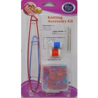 Knitting Accessory Kit, Stitch Holders, Row Counters, Knitter Needles