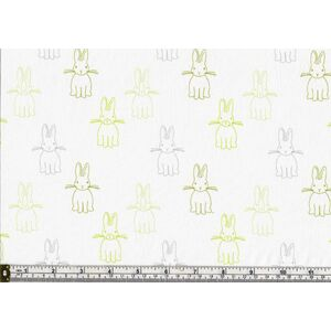 harles Parsons BUNNY TRAIL QUIET BUNNIES GREEN, Cotton, 110cm Wide Per Metre