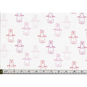 Charles Parsons BUNNY TRAIL QUIET BUNNIES PINK, Cotton, 110cm Wide Per Metre
