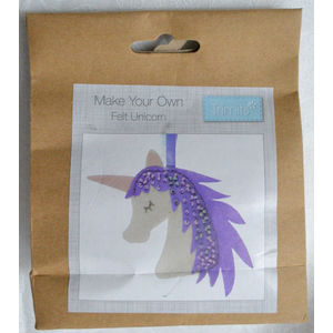 Craft Kit, DIY, Make Your Own Felt UNICORN, Felt Decorations