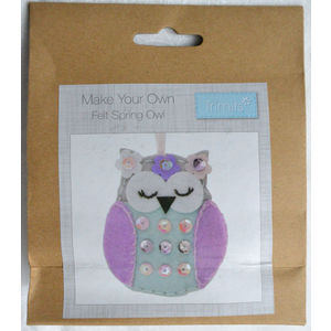 Craft Kit, DIY, Make Your Own Felt OWL, Felt Decorations