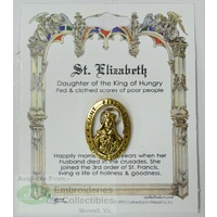 St. Elizabeth Lapel Pin, Gold Tone, Daughter of the King of Hungry