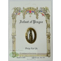 Infant of Prague Lapel Pin, Gold Tone