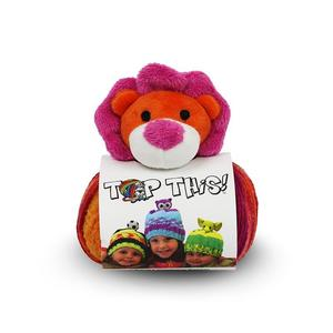 DMC Top This, 80g Ball of Continuous Texture Yarn, Child's Hat Pattern, LION Topper