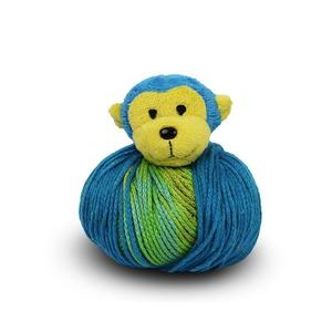 DMC Top This, 80g Ball of Continuous Texture Yarn, Child's Hat Pattern, MONKEY Topper