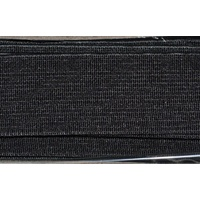 High Density Non-Roll Elastic 32mm Per Metre BLACK, 100% Polyester Elastic  PP