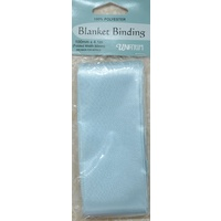Blanket Binding 100mm x 4.1m, BABY BLUE, 100% Polyester, Uni-Trim