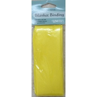 Blanket Binding 100mm x 4.1m, YELLOW, 100% Polyester, Uni-Trim
