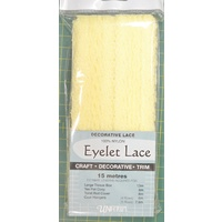 Eyelet Lace Nylon 15m Lemon