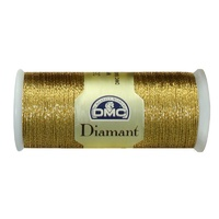 DMC Diamant Thread, 35m Hand Embroidery Thread, Colour D3852 OLD GOLD