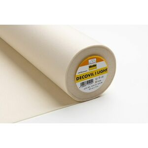 Decovil 1 Light, Lightweight Fusible Interlining, Leather-Like Handle 90cm Per Metre