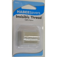 HabeeSavers Invisible Thread, Clear, 200m, 100% Nylon, Habee$avers Value