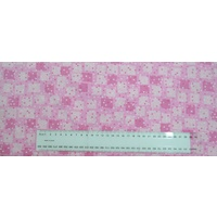 Cotton Fabric, 110cm Wide, A Hen Rietta Morning PINK Y0948.42, 95cm Remnant