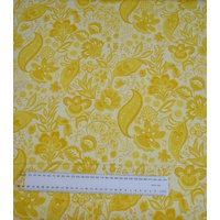 Cotton Fabric Per Metre, 110cm Wide, Sophie YELLOW Y1043.9