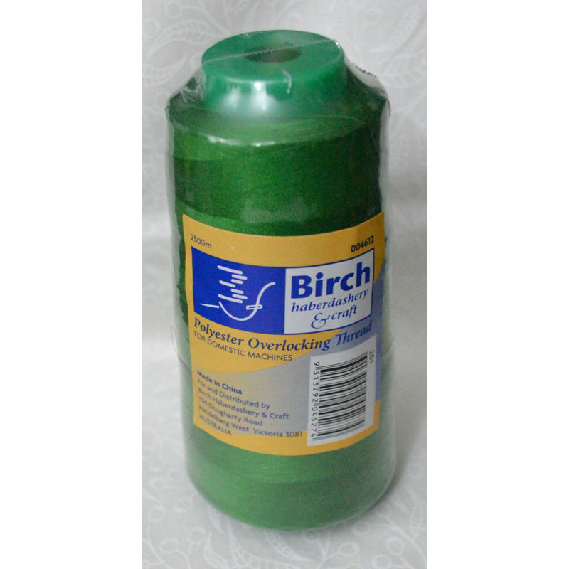 Birch Overlocker Serger Thread EMERALD GREEN 2500m For Overlocking, Colour #251