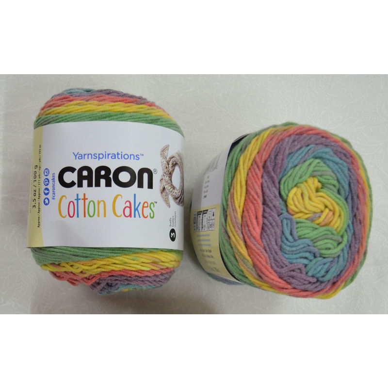 Caron Cotton Cakes, Medium Weight Cotton Blend Yarn, 100g Ball, CALICO FLOWERS