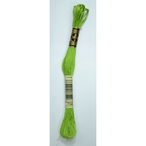 DMC Stranded Cotton Embroidery Floss, Colour 704 Bright Chartreuse