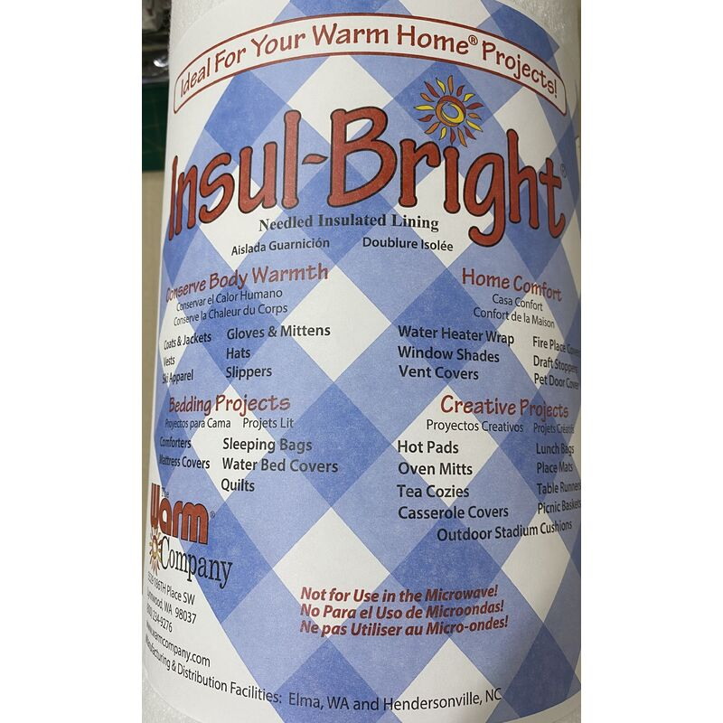 Insul Bright 55cm Wide, Insulating Material For Sewers & Crafters, Per Metre