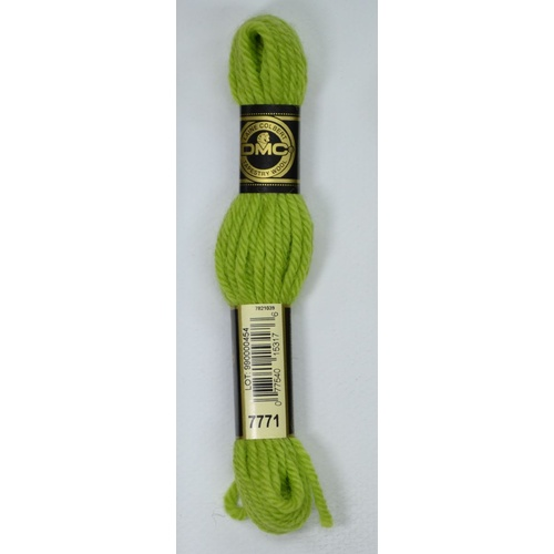 DMC TAPESTRY WOOL, 8m SKEIN, Colour 7771 VERY LIGHT AVOCADO GREEN