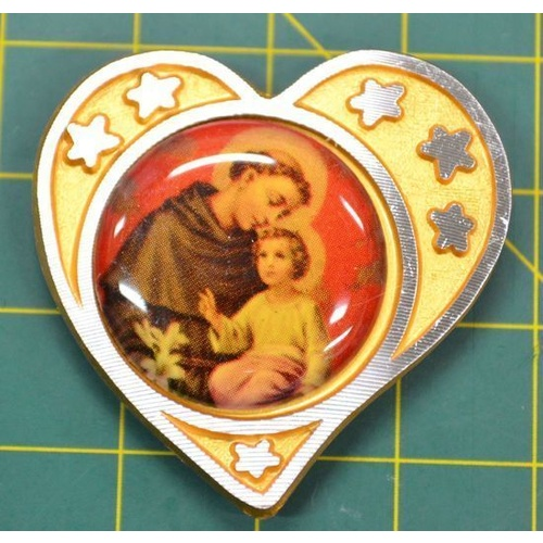 SAINT ANTHONY, Magnetic Car Plaque Or Memo Holder, Beautiful Item