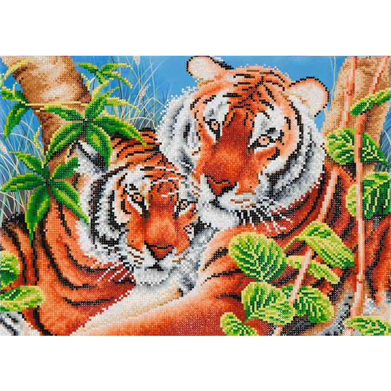 Diamond Dotz 5D Embroidery Facet Art Kit, Tender Tigers, DD10.004, Round Dots